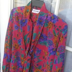 Alfred Dunner polyester button front blouse